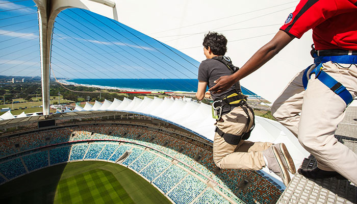 Big Swing At Moses Mabhida Stadium